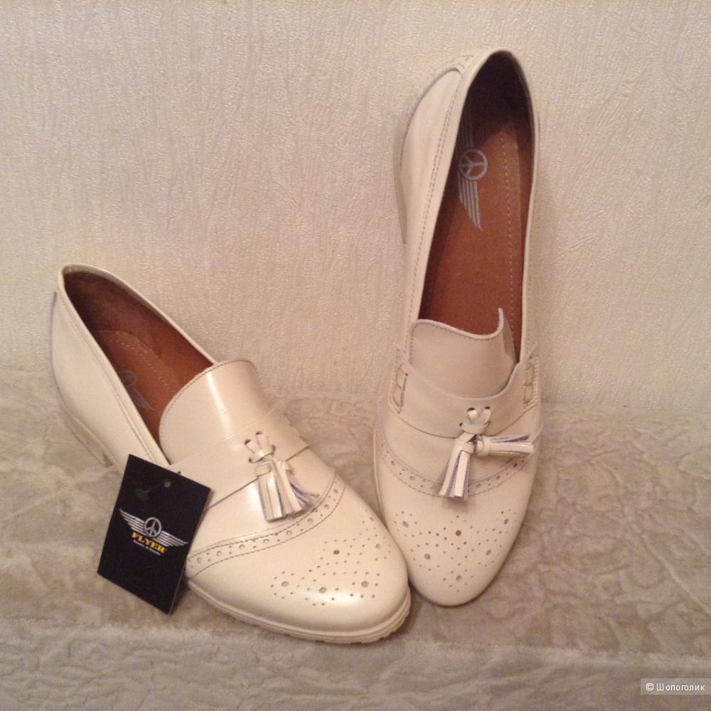 Кожаные туфли FLYER, размер 42