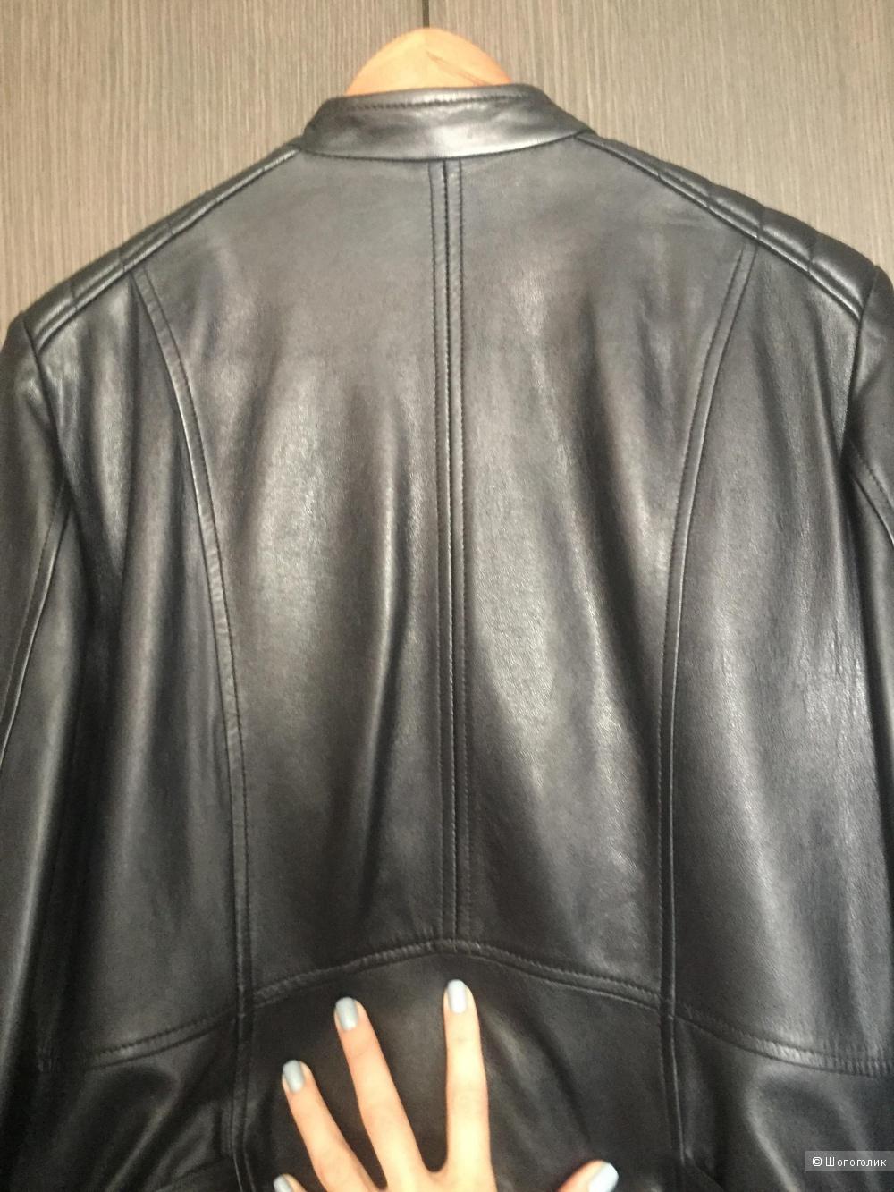 Кожаная куртка Massimo Dutti размер L