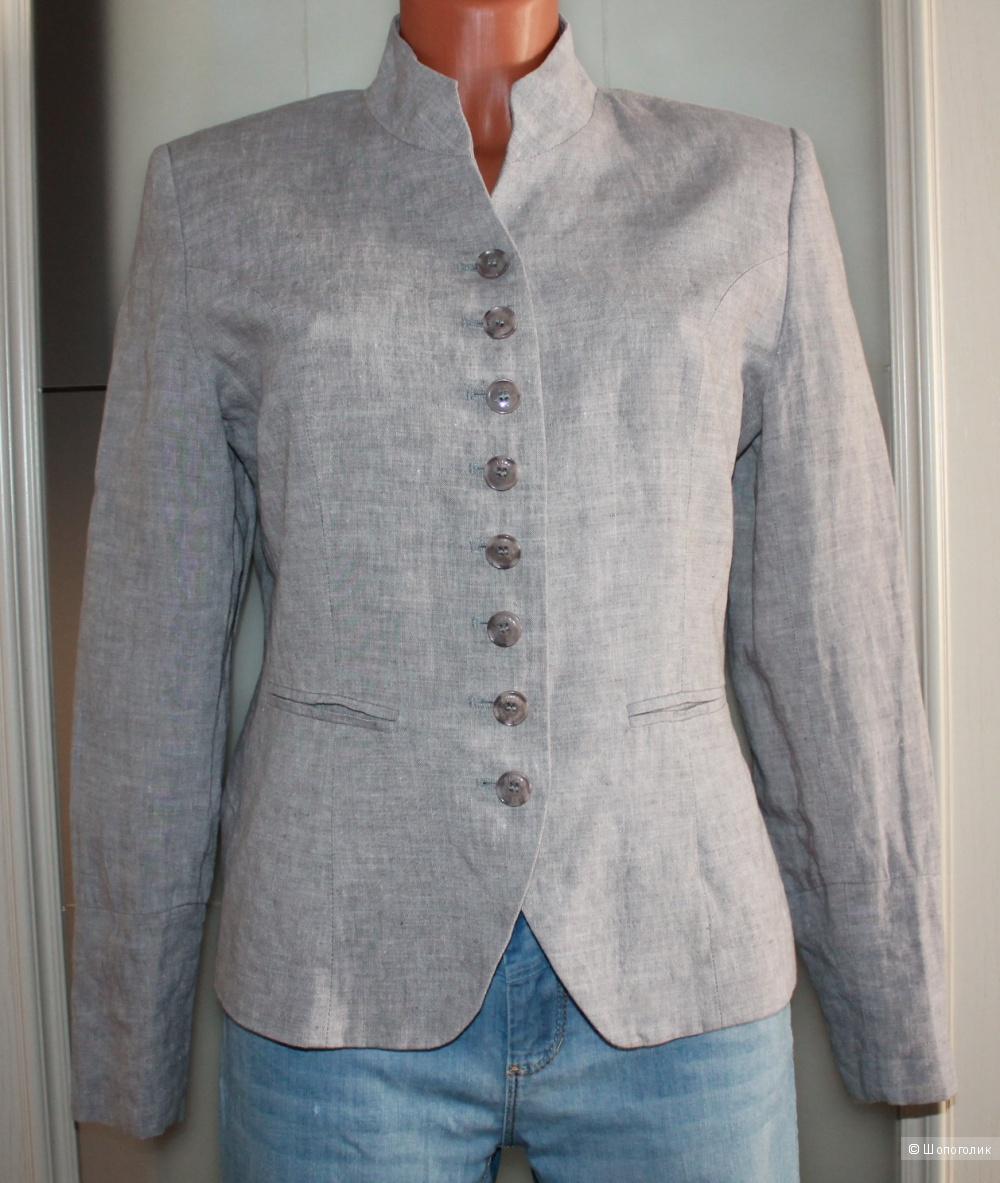 Льняной пиджак бренда PULLS, размер 44-46