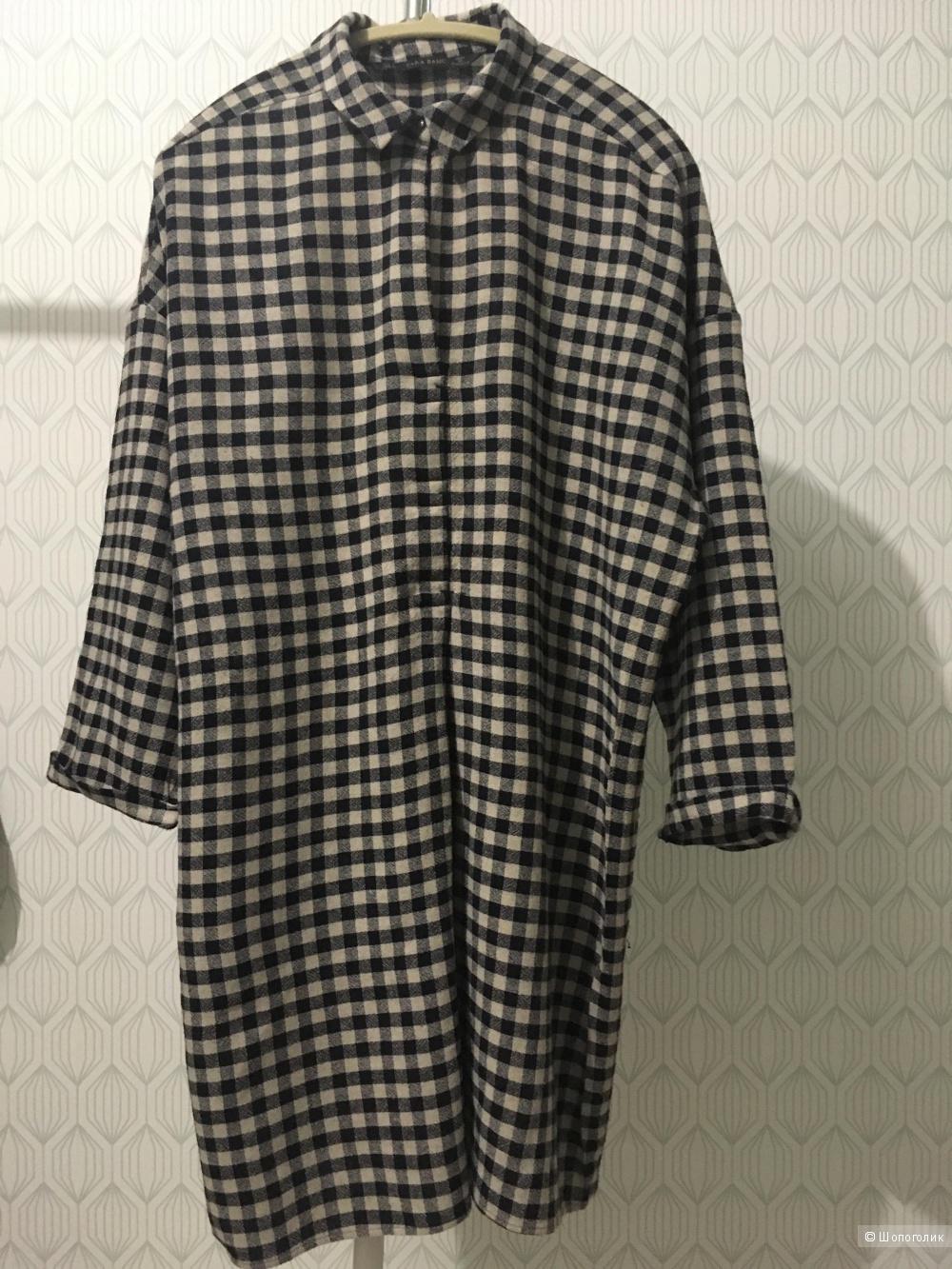 Удлиненная рубашка, Zara, L