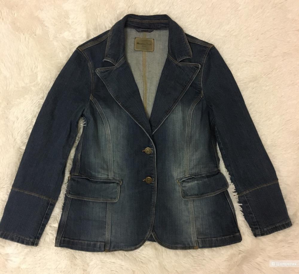 Джинсовый пиджак фирмы Massimo Dutti, 46-48