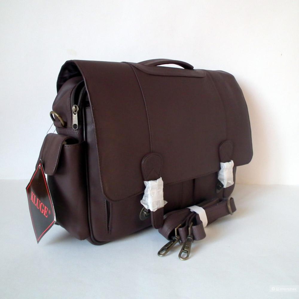 Мужской кожаный портфель Kluge