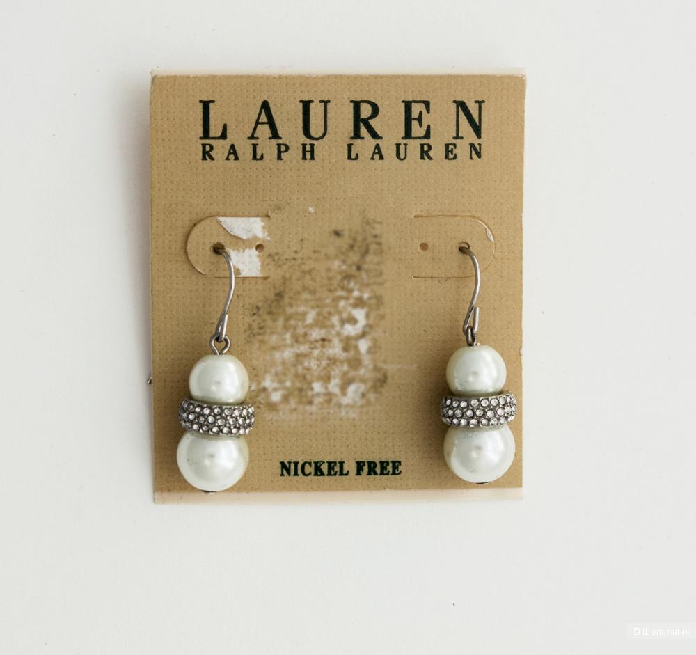 Серьги с искусственным жемчугом Ralph Lauren