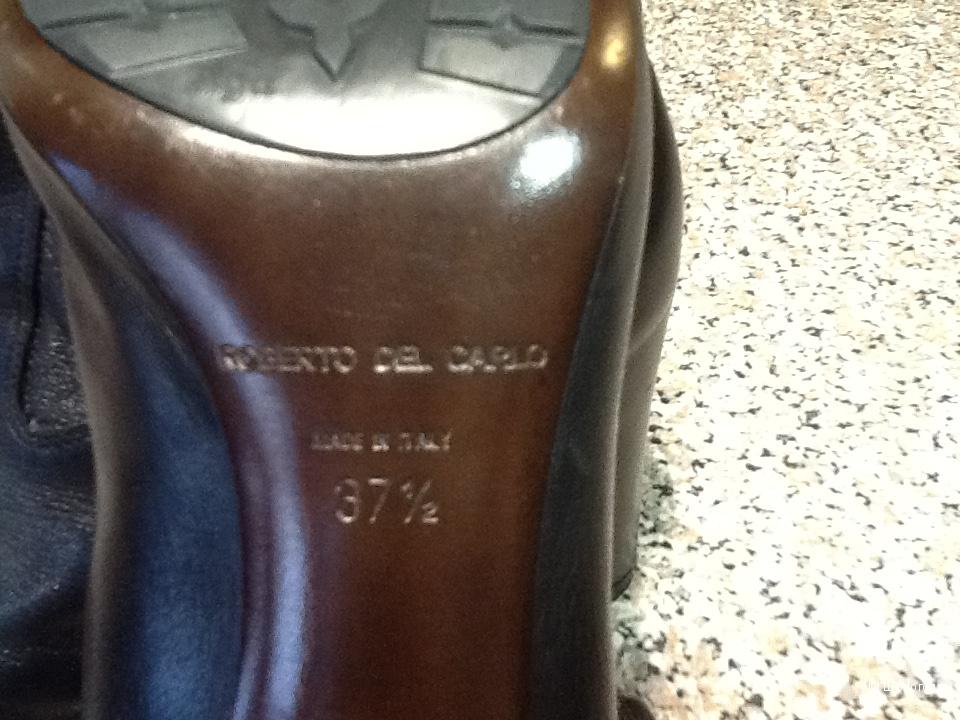 Сапоги кожанные женские ROBERTO DEL KARLO размер 37,5