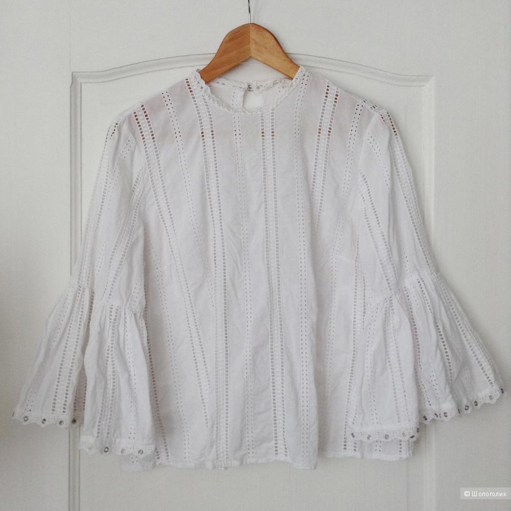 Хлопковая рубашка H&M, XS-S-M