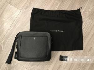 Кожаная сумка Cesare Paciotti  31х28х10 см