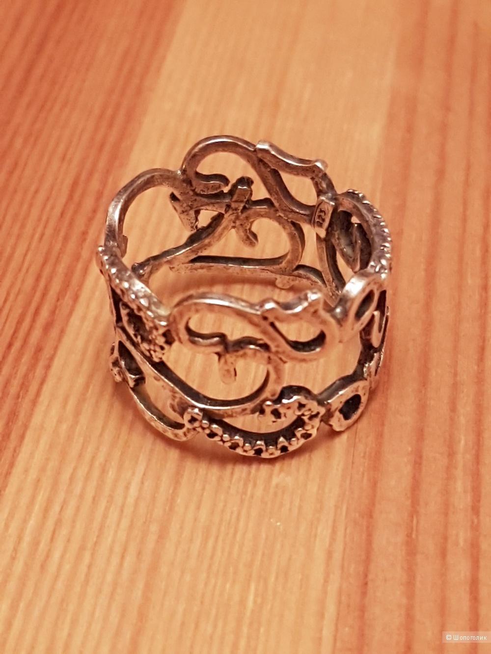 Кольцо серебряное  TAMIR ZUMAN,  размер 16,5