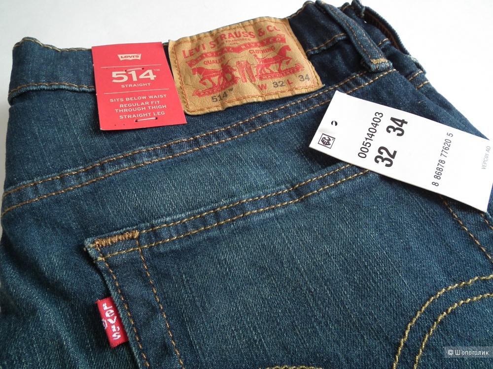 Мужские джинсы Levis 514  32/34