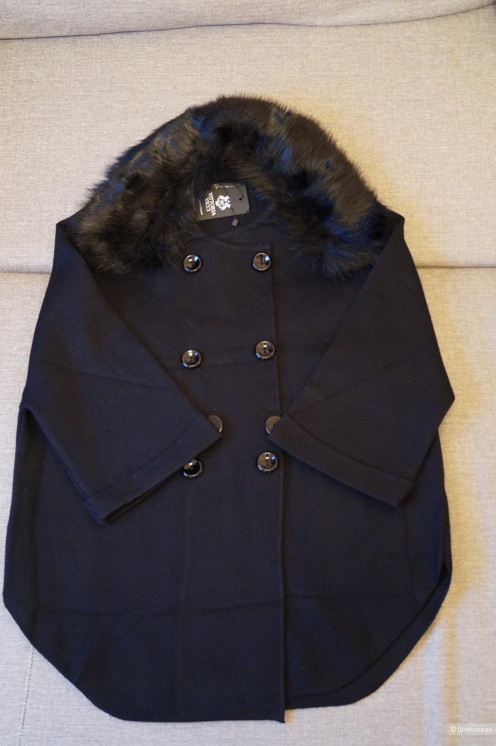 Шерстяное, вязаное пальто, Vittoria Vicci, размер 42-46