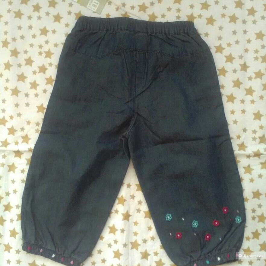 Джинсовые штанишки для девочки. 18 мес. Dpam.