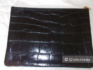Сумка клатч из натуральной кожи H&M