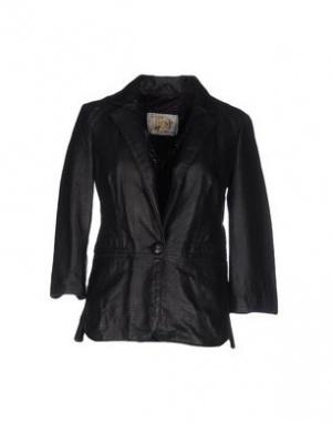 Кожаная куртка-пиджак VINTAGE DE LUXE рр.42-44