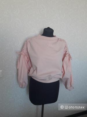 Zara Woman: свитшот-худи с рукавами-буфами, L