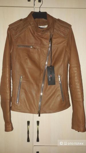 Куртка кожаная flo clo, 42 размер