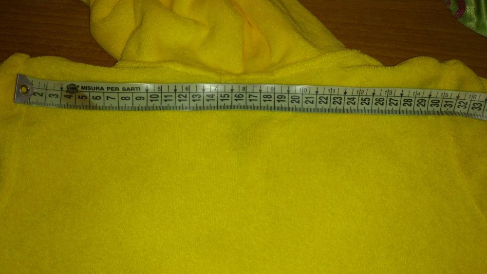 Толстовка махровая желтая JUICY COUTURE, размер 14 (ам) = XS-S = 40-42 (рос)