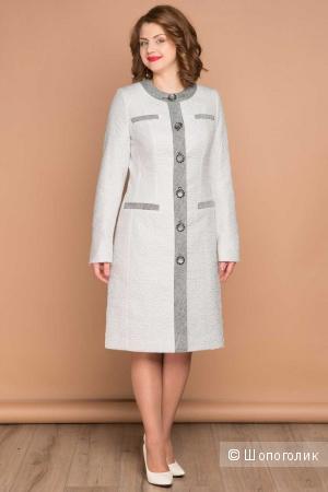 Пальто Brillare светло-бежевое 52-54 размер
