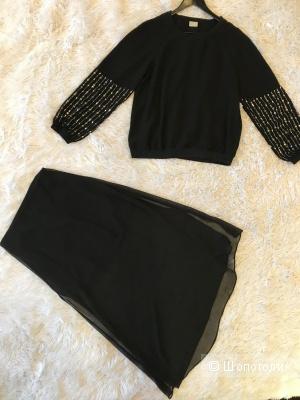 Свитшот HM, юбка HM, размер 44.
