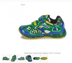 Светящиеся кроссовки Geox, размер 38