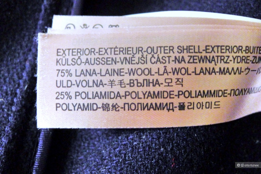 Massimo dutti пальто дафлкоат размер 40