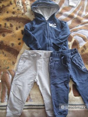 Набор кофточка + 2 штанишек Mothercare на мальчика 12-18 мес