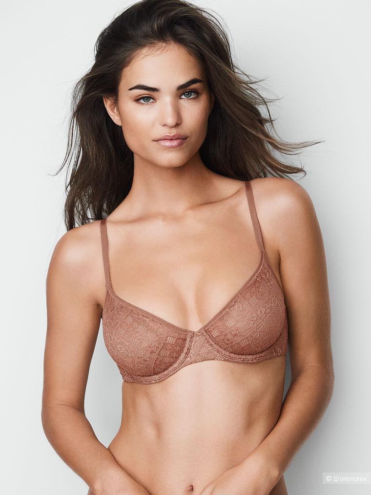 Нижнее белье Victoria's secret Бра Lace Unlined Demi Bra 34D и трусики Raw Cut Shortie Panty размер S