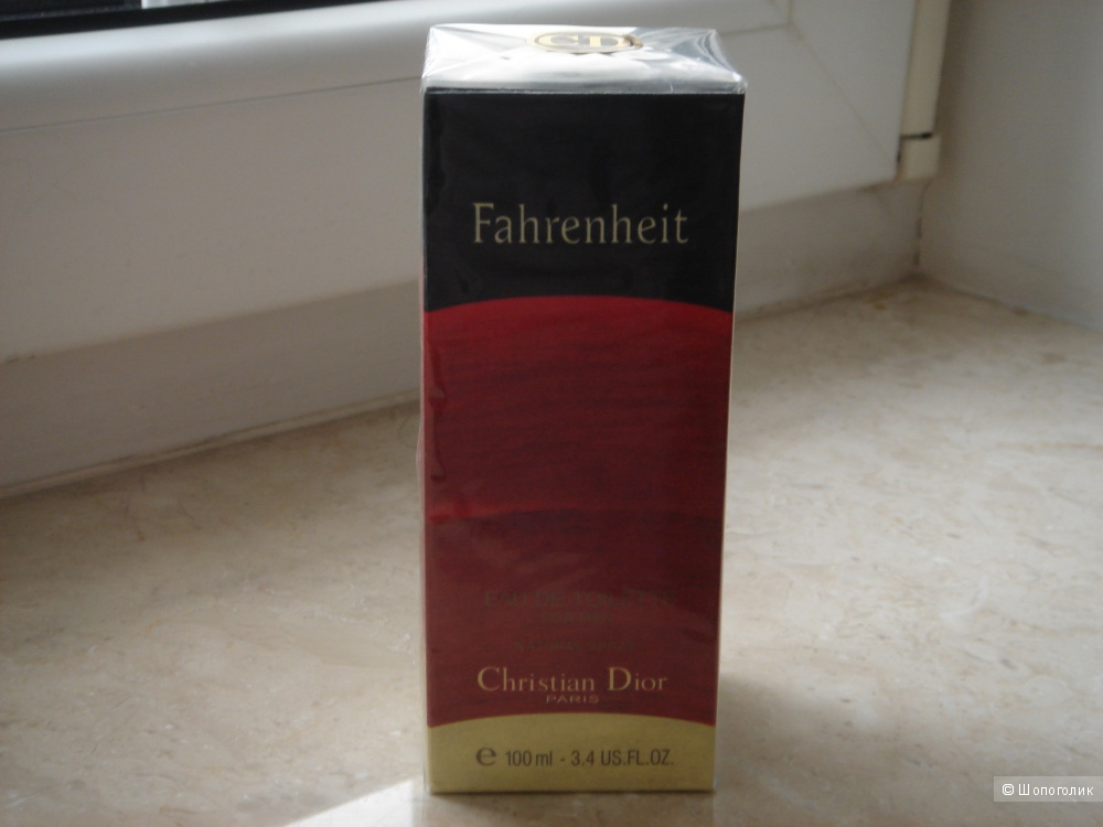 Мужская туалетная вода Fahrenheit Eau de toiletee Christian Dior, 100 ml