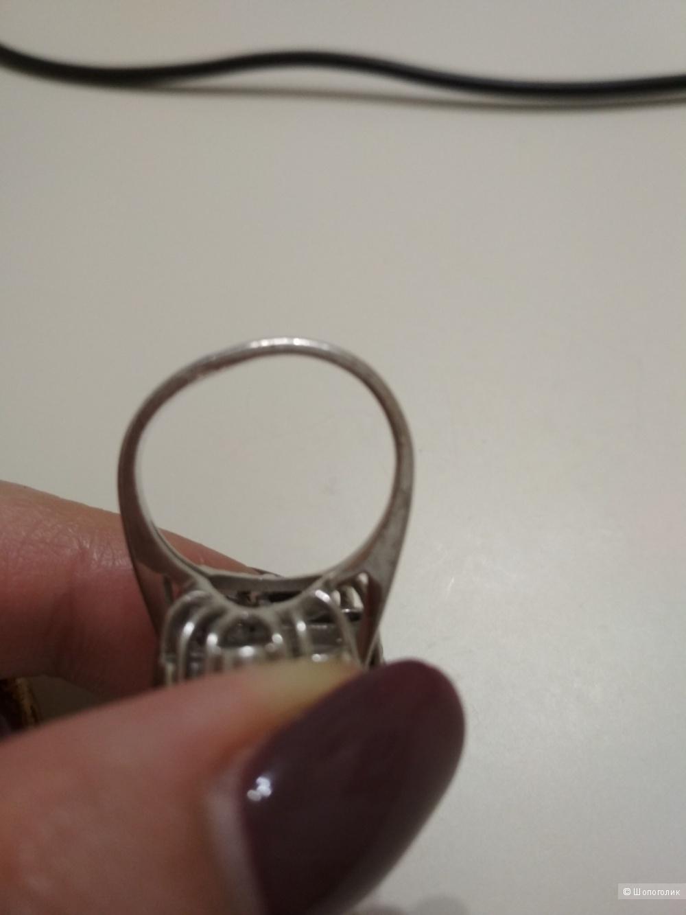 Кольцо серебро 925 проба с натуральными сапфирами,р. 17