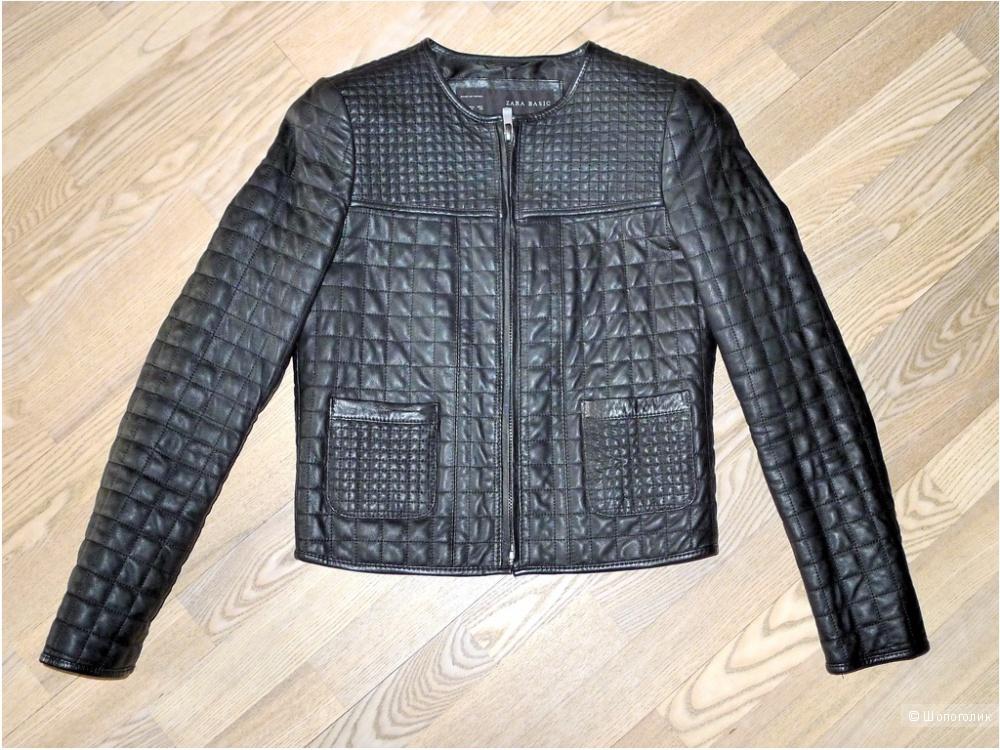 Zara куртка кожаная размер M S