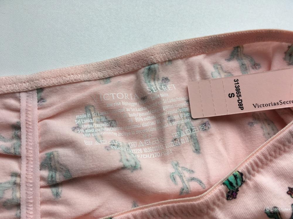 Хлопковые трусики - хипстеры Victoria's Secret, размер S (сет из 3 штук)