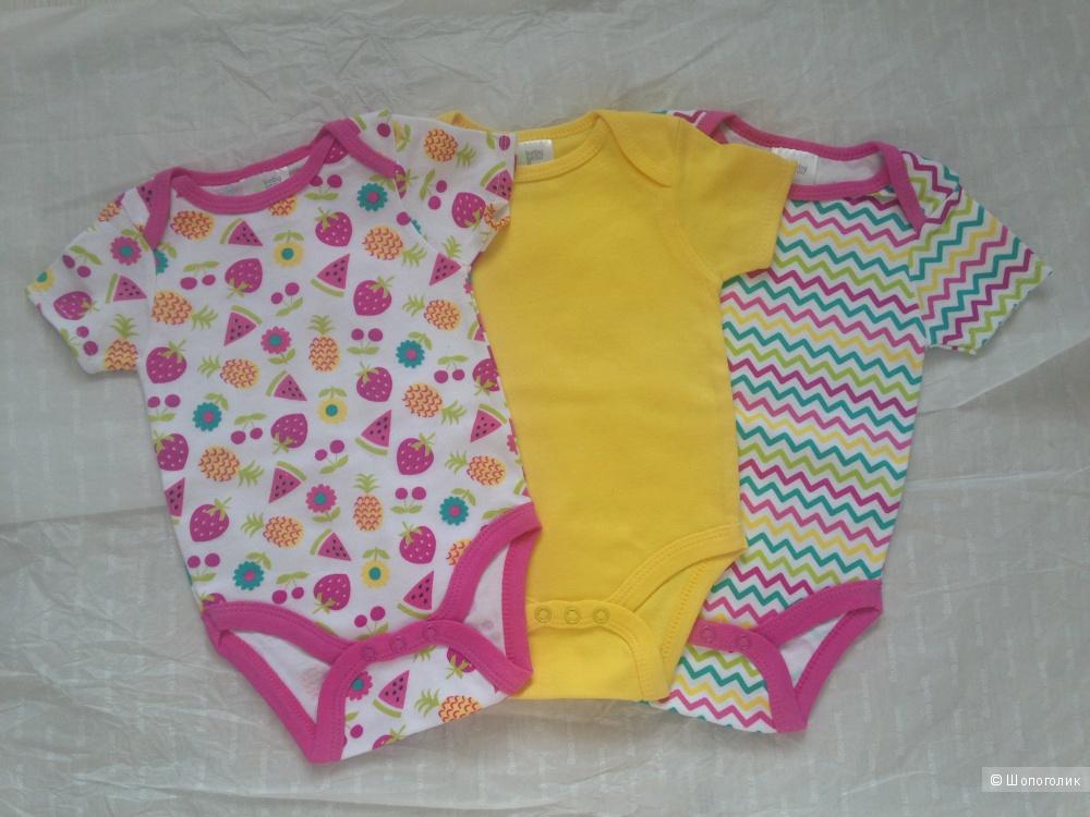 """Детский набор боди """"Baby Gear"""" + пинетки """"Disney Baby"""" 3-6 месяцев"""