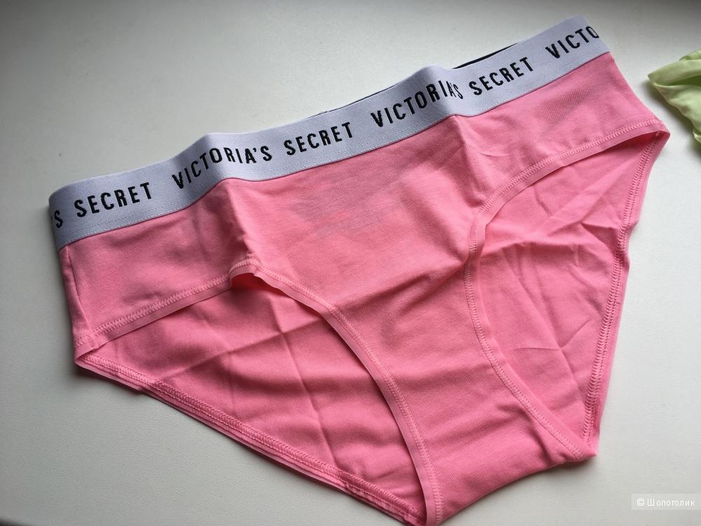Хлопковые трусики - хипстеры Victoria's Secret, размер S (сет из 2 штук)