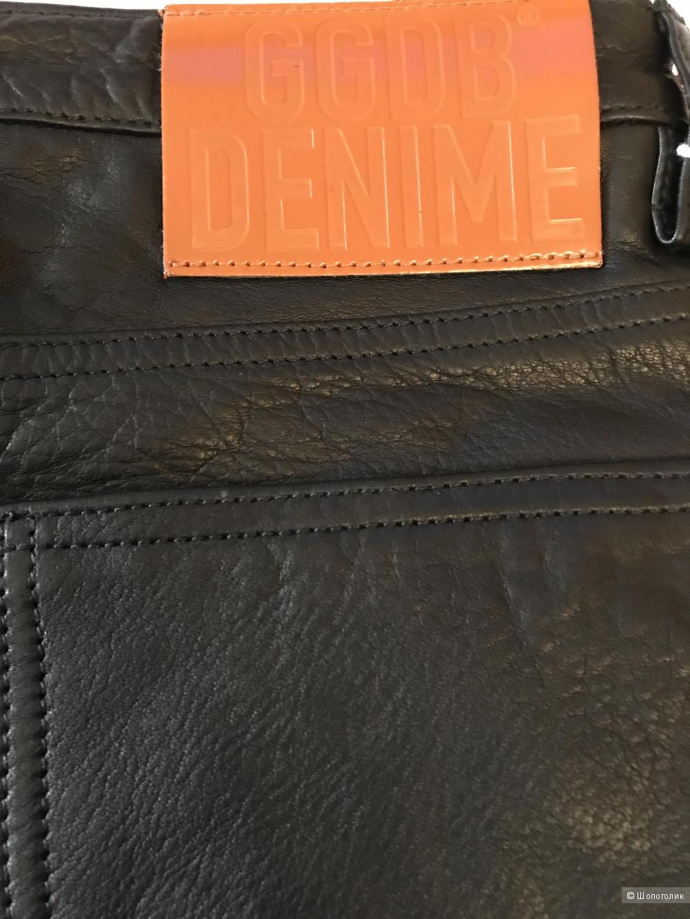 Кожаные брюки Golden Goose, р 28