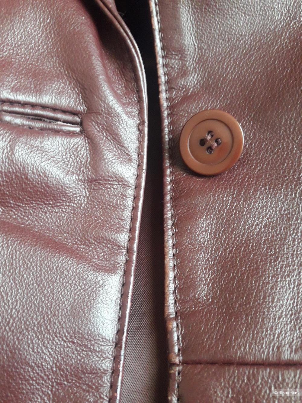 Кожаный тренч Ла редут, размер 46