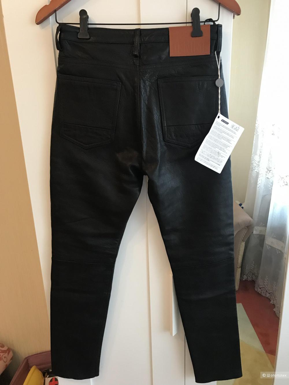 Кожаные брюки Golden Goose , р 27