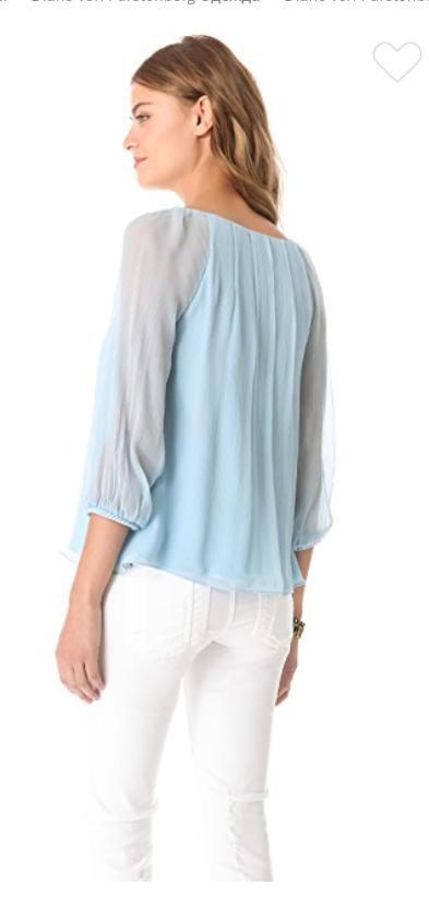 Блузка Diane von Furstenberg, размер оверсайз S/M/L