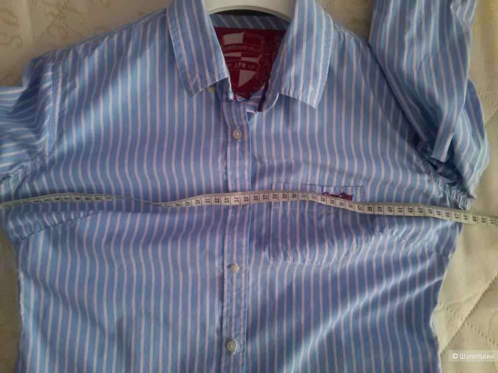 SuperDry , голубая рубашка в полоску, 42-44