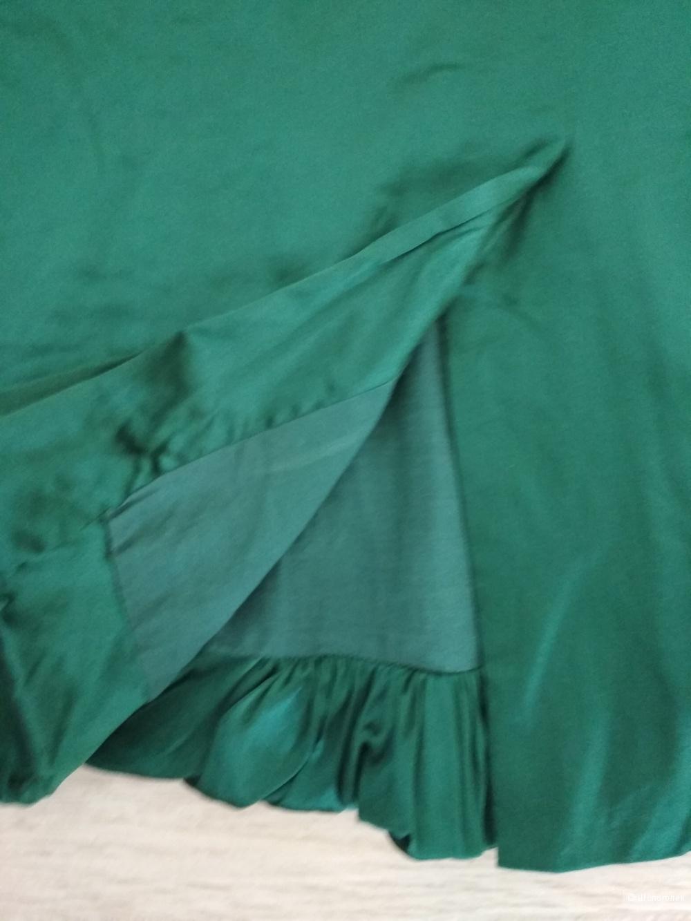 Сет из юбки и топа, 100 % шелк, р. 44-46