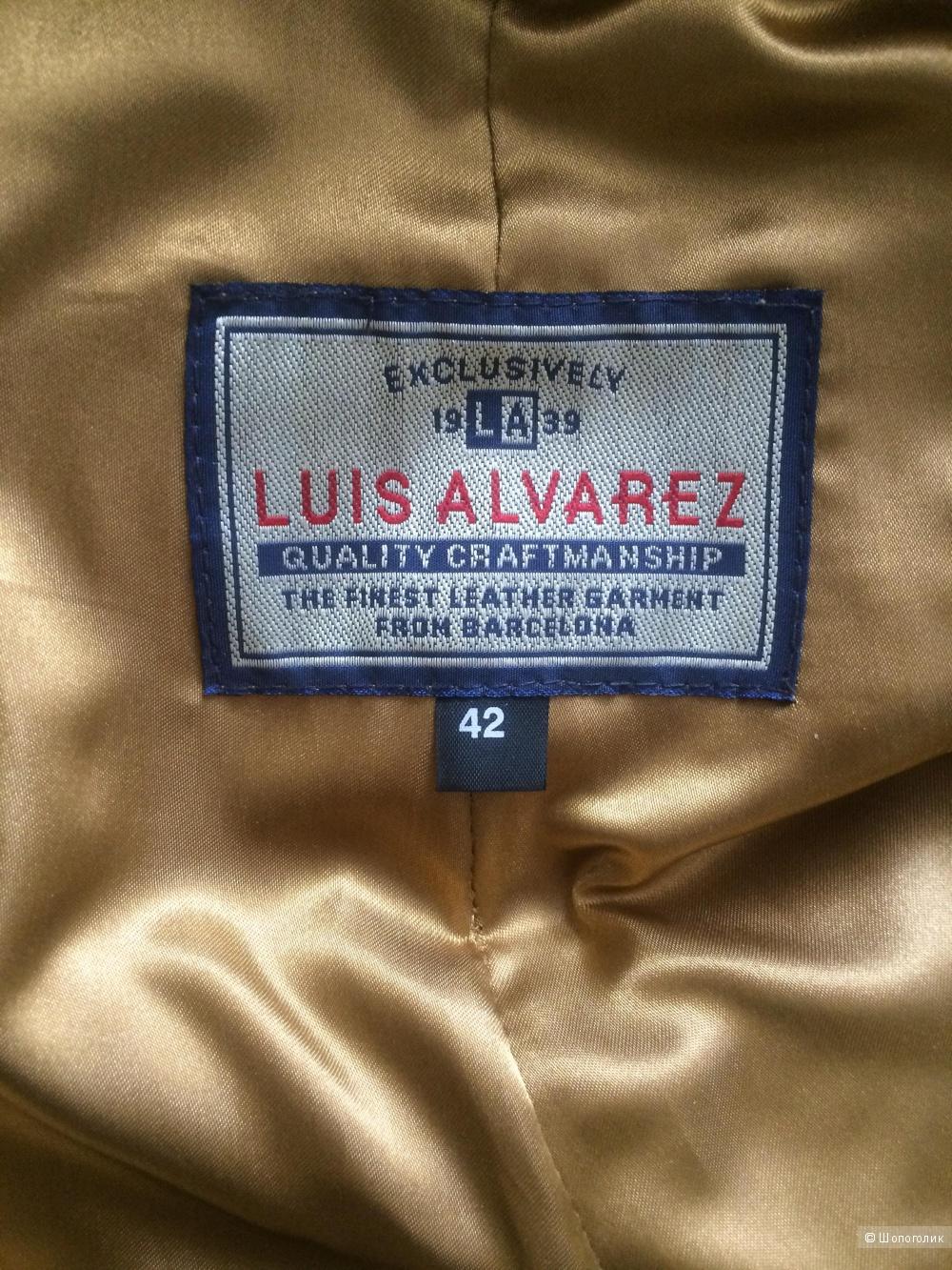 Брюки кожа LUIS ALVAREZ 42 (48-50) размер