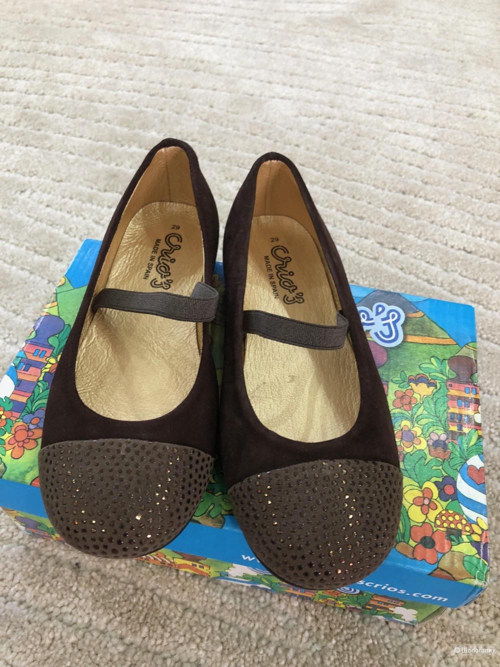 Туфли для девочки кожа 29р