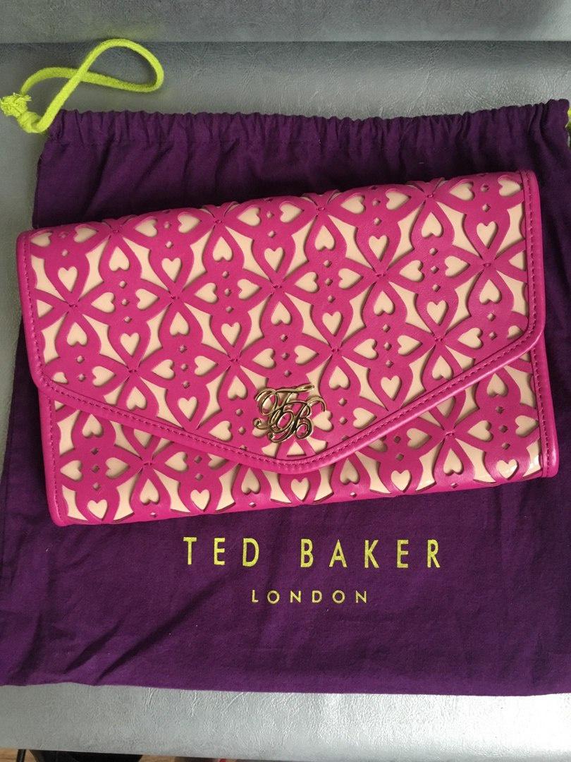 Кожаный клатч Ted Baker размер M