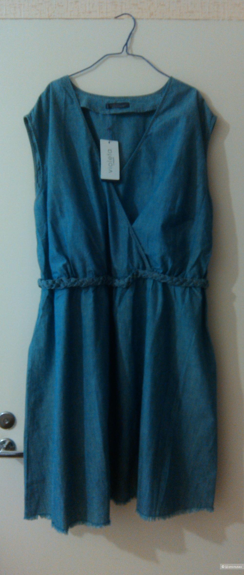 Джинсовое платье XXL от Манго