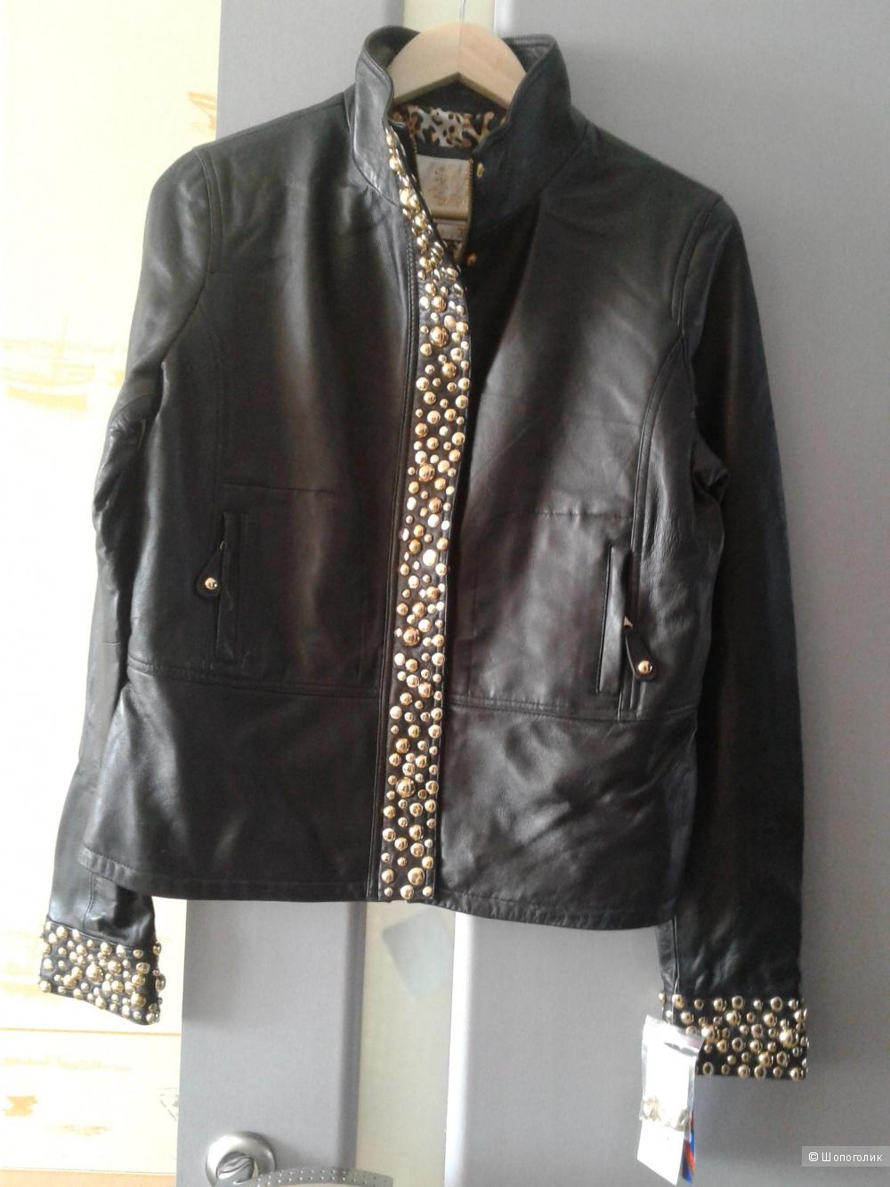 Кожаная байкерская куртка Sara Berman размер L