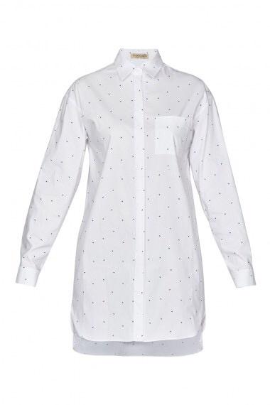 Удлинённая рубашка Vassa and Co, размер 46-48