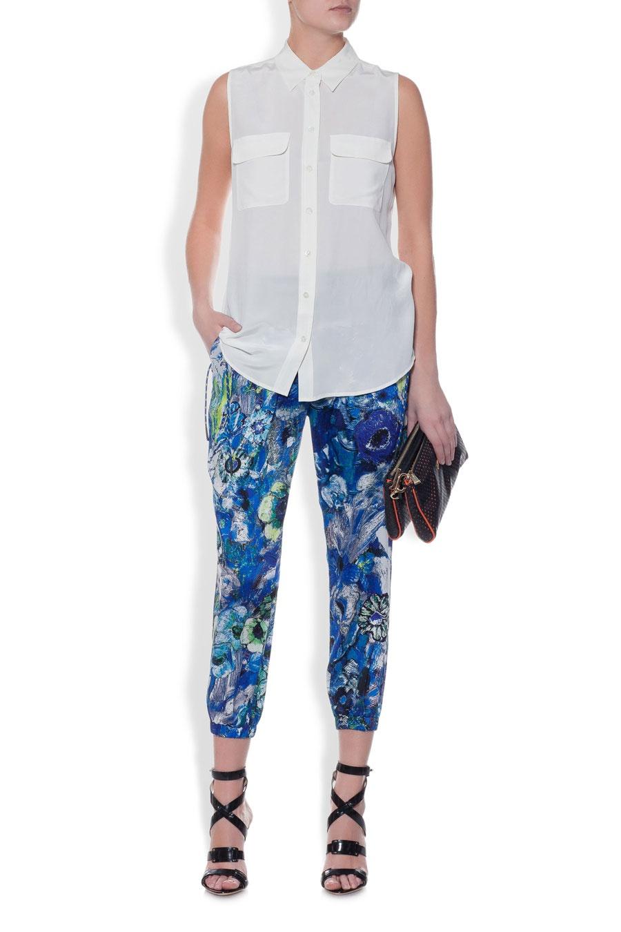Укороченные брюки бренда Just Cavalli размер IT42/44RU
