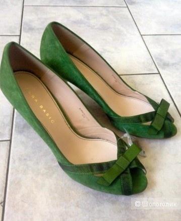 Туфли замшевые Zara 39 размер