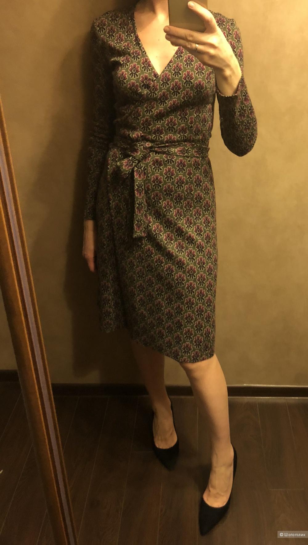 Шерстяное платье с запахом 42-44 рос  immagi