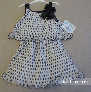 Плиссированное платье Bonnie jean, 5 лет