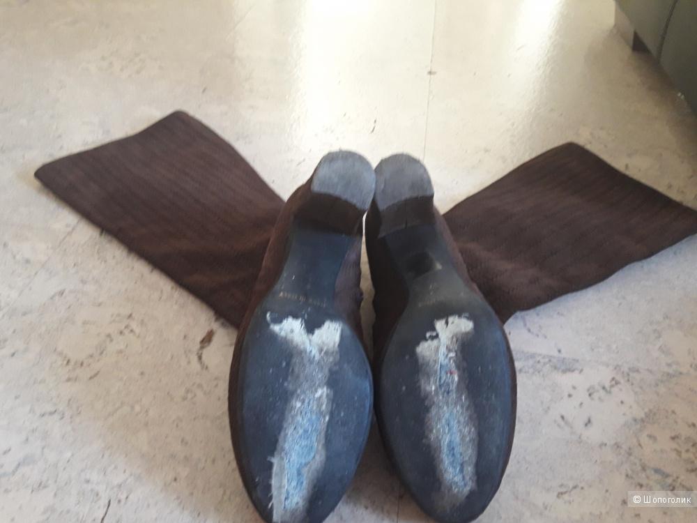 Сапоги замшевые 37-38 размер