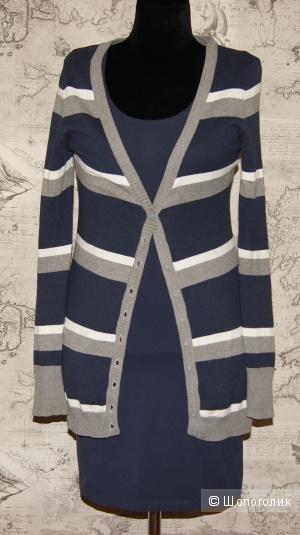 Сет кардиган AJC + платье bpc, р-р 42-44