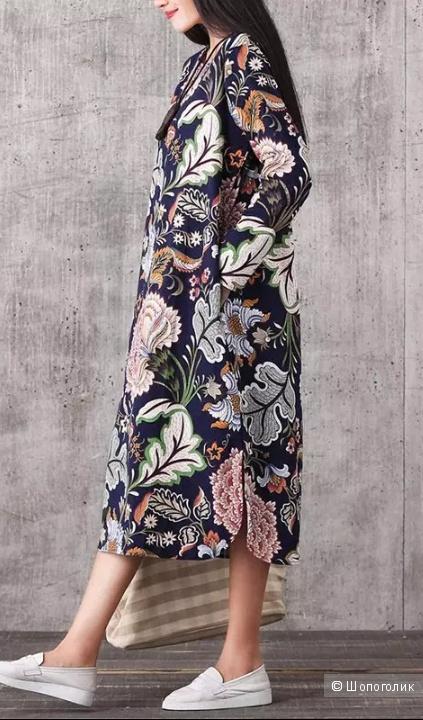 Платье мультиколор, ноу нейм, оверсайз